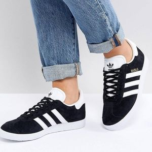 Black Adidas Gazelle Sneakers